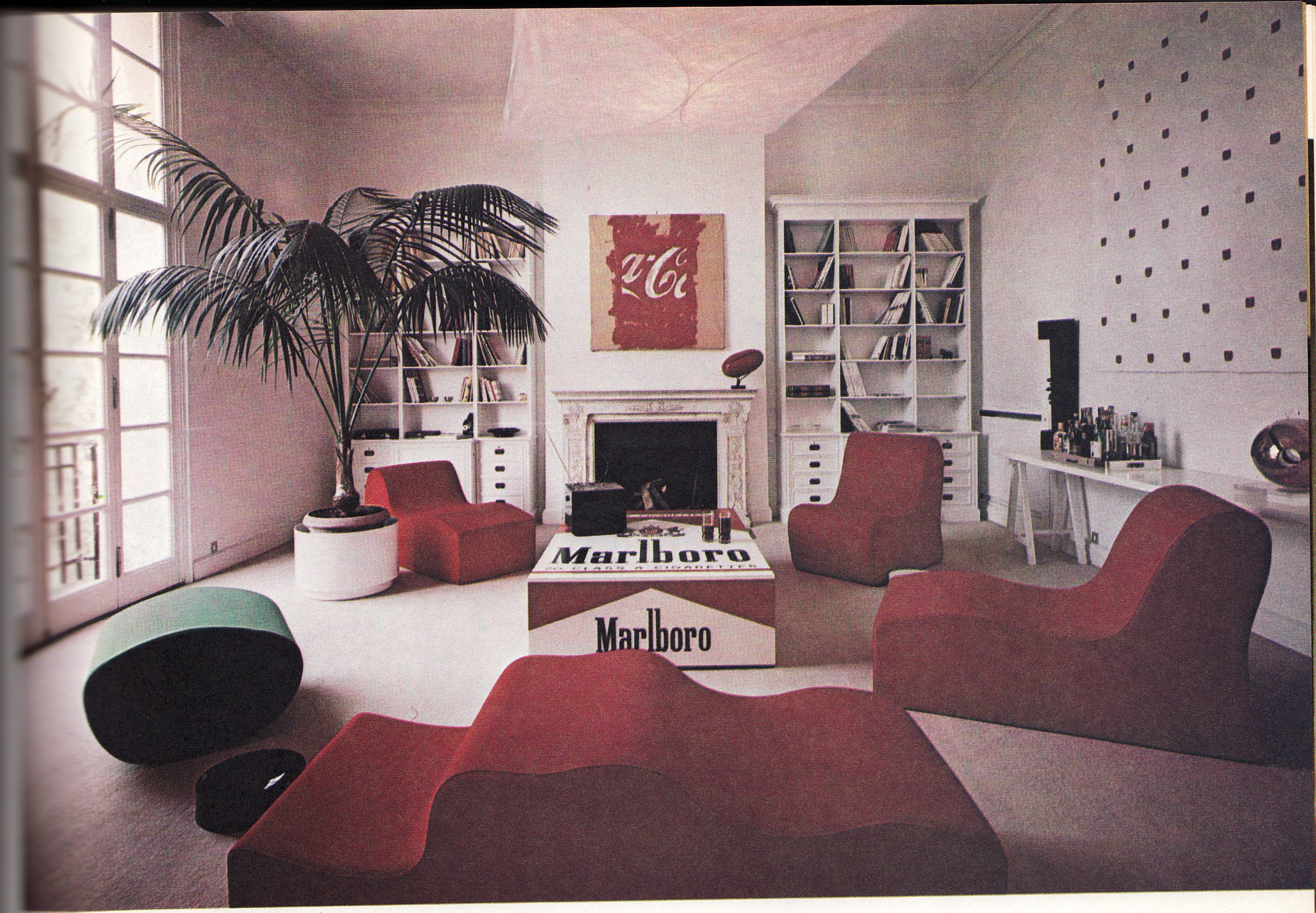 70 s livng for 70 s room design